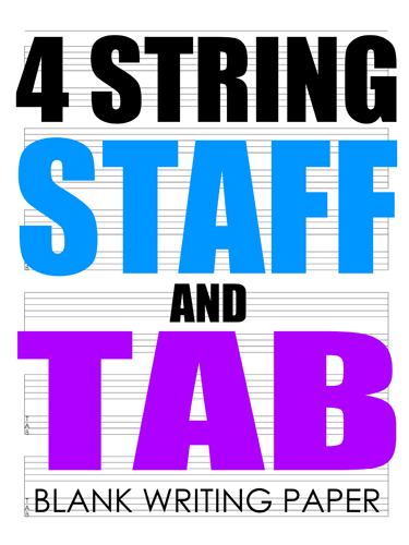 4 String Staff and Tab Notebook