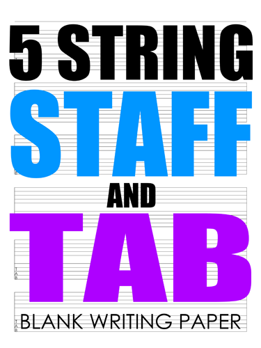 5 String Staff and Tab Notebook