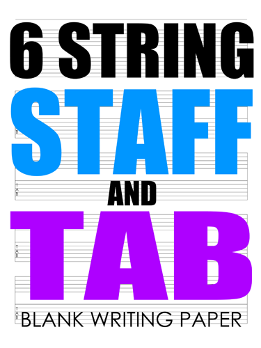 6 String Staff and Tab Notebook