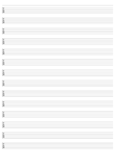 6 String Guitar Tab