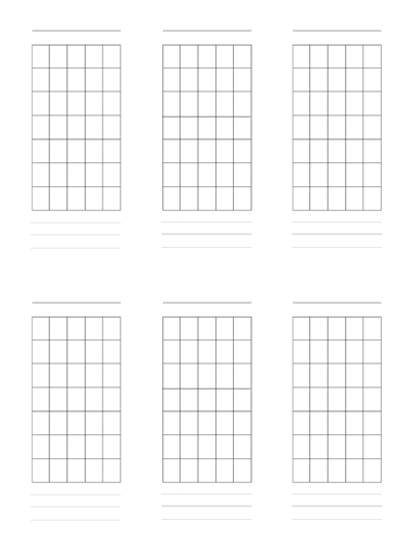 6 String Guitar Scale Diagrams