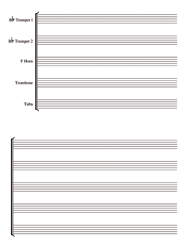 Brass Quintet Notebook