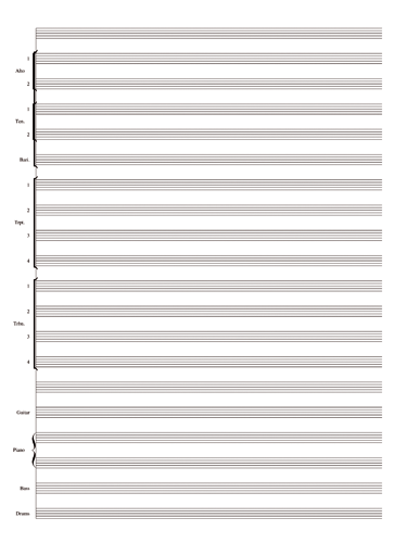 Jazz Orchestra Notebook