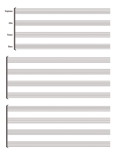 Soprano, Alto, Tenor, Bass Notebook