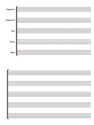 Soprano I, II, Alto, Tenor And Bass Notebook