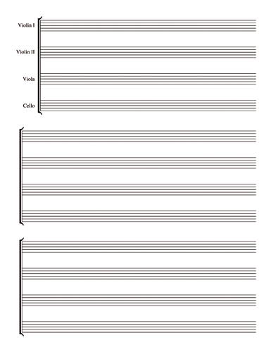 String Quartet Notebook