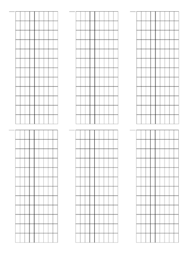 10 String Fretboard Tapping - Dual Page Layout