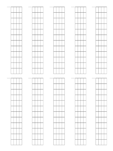 5 String Fretboard Tapping - Dual Page Layout