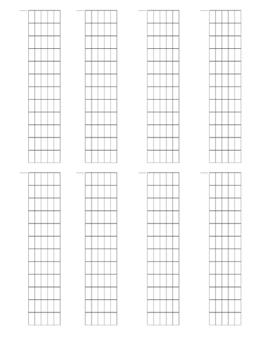 6 String Fretboard Tapping - Dual Page Layout