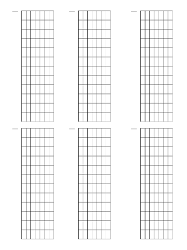 8 String Fretboard Tapping - Dual Page Layout
