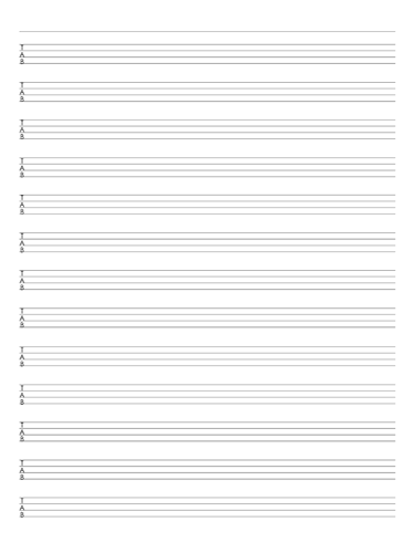 Red 4 String Bass Tab