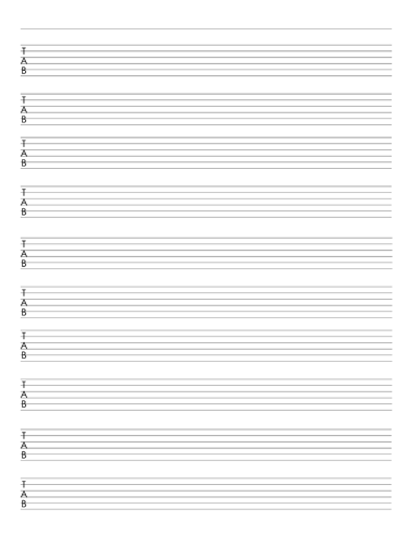 Red 6 String Bass Tab