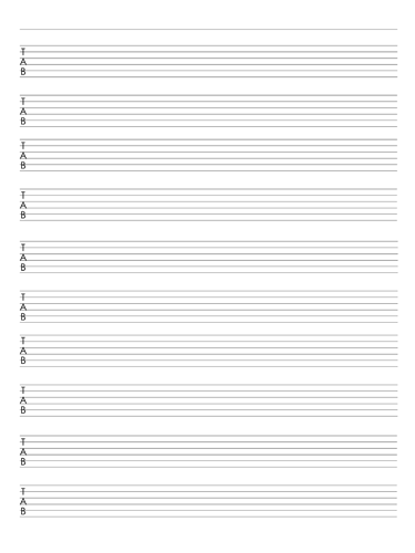 6 String Guitar Tab Notebook